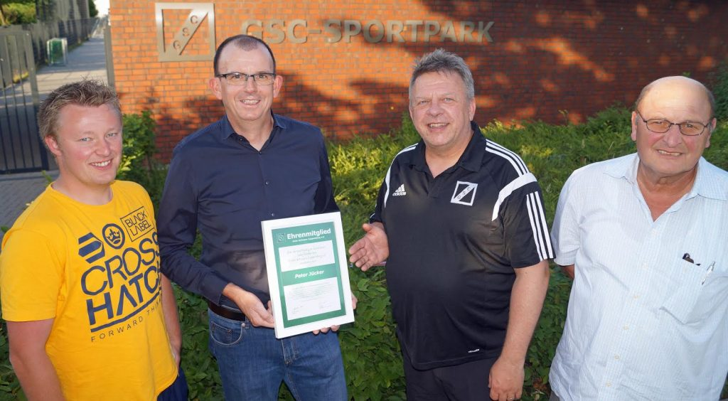 Peter Jücker - neues Ehrenmitglied für seine Verdienste